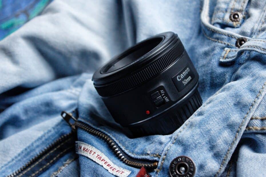 black Canon 50mm lens
